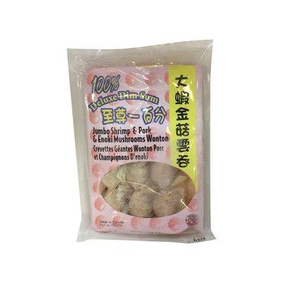 100% Jumbo Shrimp Enoki Mushroom Wonton