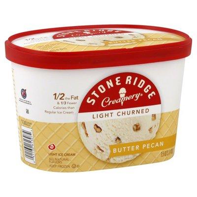 Stone Ridge Creamery Ice Cream, Light Churned, Butter Pecan
