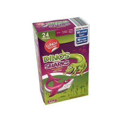 Lunch Buddies Dinos and Sharks Fruit Flavored Snacks