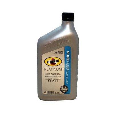 Pennzoil Platinum 10 W 30 Full Synthetic Motor Oil