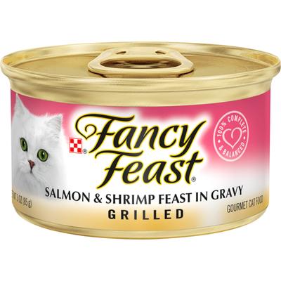 Purely Fancy Feast Grilled Gravy Wet Cat Food, Salmon & Shrimp Feast