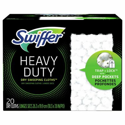 Swiffer Heavy Duty Multi-Surface Dry Cloth Refills For Floor Sweeping