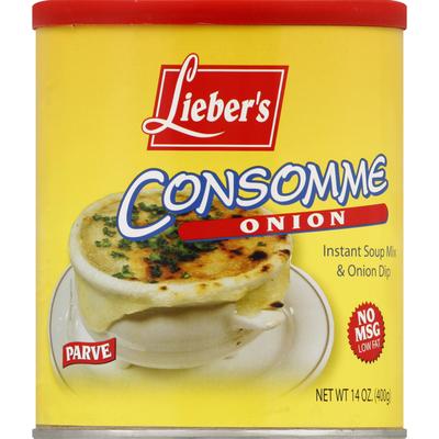 Lieber's Soup Mix & Onion Dip, Instant, Consomme Onion