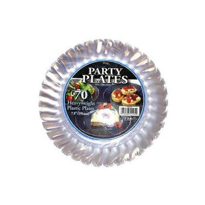 "WNA Elegant Fluted 7.5"" Party Plastic Plates"
