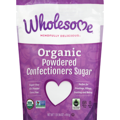 Wholesome Confectioners Sugar, Organic, Powdered
