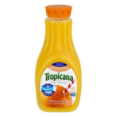 Tropicana Calcium + Vitamin D Grovestand Lots of Pulp Orange Juice