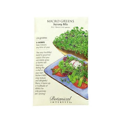 Botanical Interests Organic Micro Greens Savory Mix
