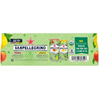 San Pellegrino & Te Pesca-Limone, 24 X 8.45 oz