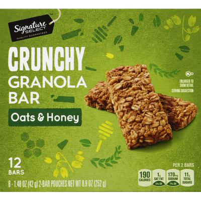 Signature Kitchens Granola Bar, Crunchy, Oats & Honey
