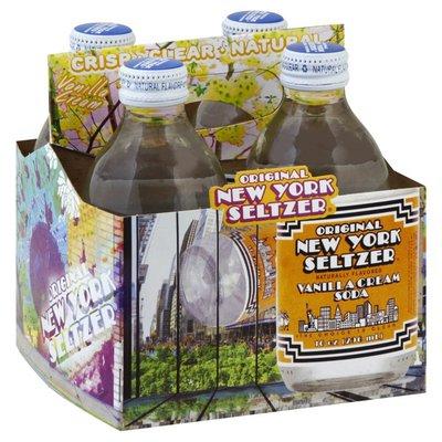 Original New York Seltzer Soda, Vanilla Cream