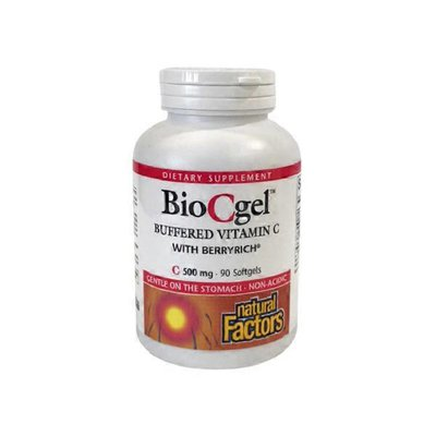 Natural Factors Biocgel Buffered Vitamin C With Berry Rich Dietary Supplement