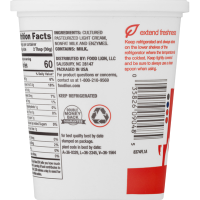 Food Lion Sour Cream, Original