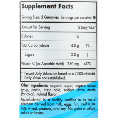 Nordic Naturals Vitamin C Gummies Dietary Supplement