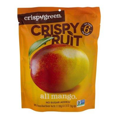 Crispy Green Crispy Fruit, All Mango, 6 Pack