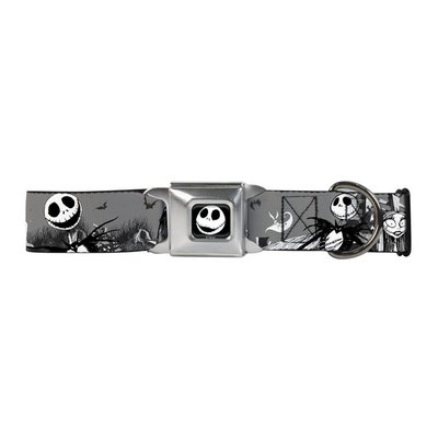 """Buckledown 18""""-32"""" Extra Large Multi-Color Nightmare Before Christmas Jack For Necks Dog Collar"""