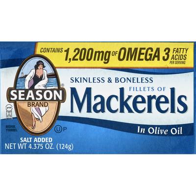 Season Brand Mackerels, Fillets, in Olive Oil