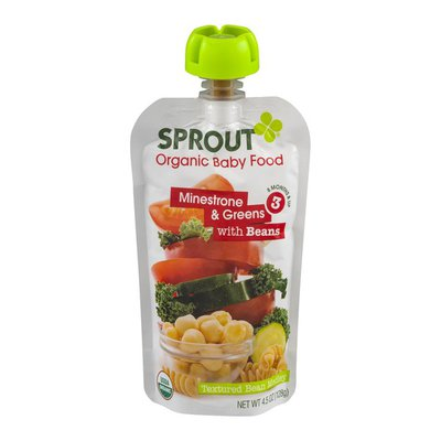 Sprout Organic Baby Food Minestrone & Greens with Beans 3