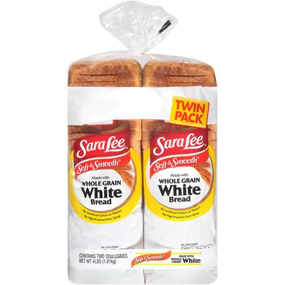 Sara Lee Soft & Smooth Made with Whole Grain White Bread