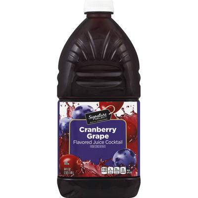 Signature Kitchens Juice Cocktail, Cranberry Grape Flavored