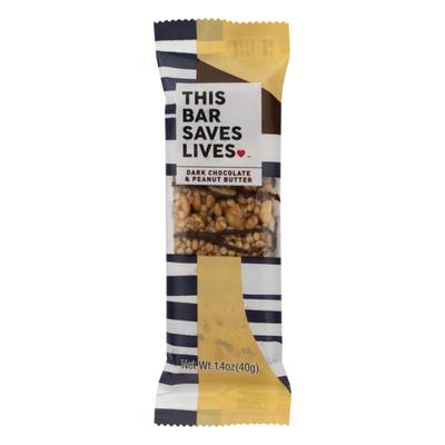 This Saves Lives Bar Dark Chocolate & Peanut Butter