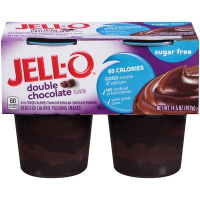 Jell-O Ready to Eat Sugar Free Double Chocolate Pudding Snack