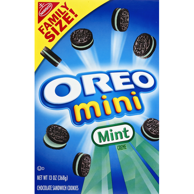 Oreo Cookies, Sandwich, Chocolate, Mint Creme, Family Size!