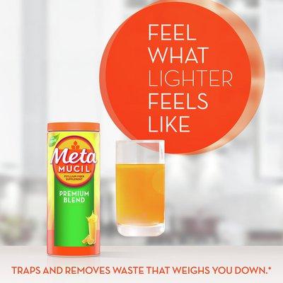 Metamucil Psyllium Fiber Powder, Sugar-Free with Stevia, Natural Orange Flavor