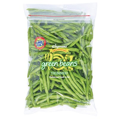 Wegmans Food You Feel Good About Cleaned and Cut Trimmed Green Beans, FAMILY PACK