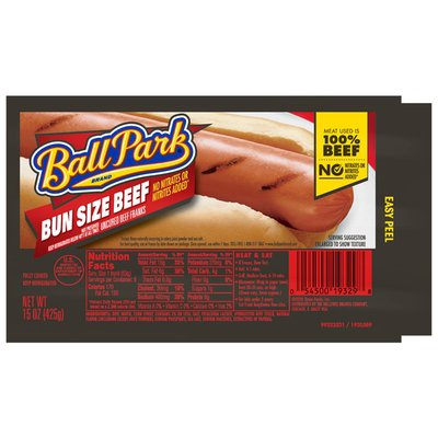 Ball Park Bun Size Beef Franks