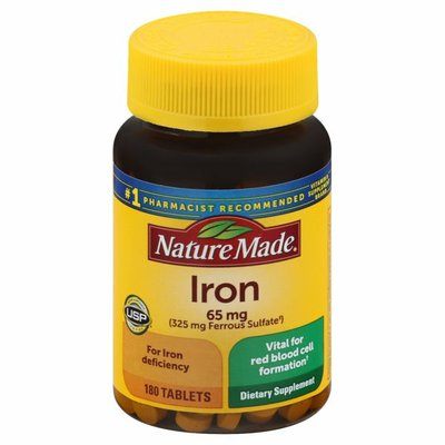 Nature Made Iron 65mg Tablets
