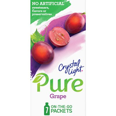Crystal Light Grape Naturally Flavored Powdered Drink Mix with No Artificial Sweeteners