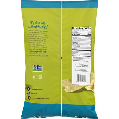 Good Health Potato Chips, Sea Salted, Avocado Oil, Kettle Style
