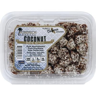 PurePalm Produce Date Bites, Coconut
