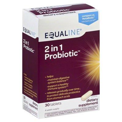 Equaline Probiotic, 2 in 1, Tablets