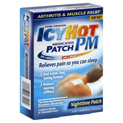 Icy Hot Medicated Patch, Extra Strength, Nighttime