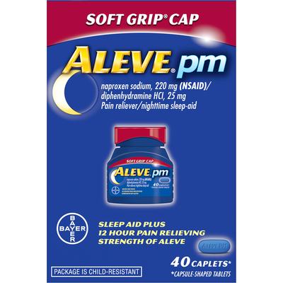 Aleve Pain Reliever/Nighttime Sleep-Aid, Caplets