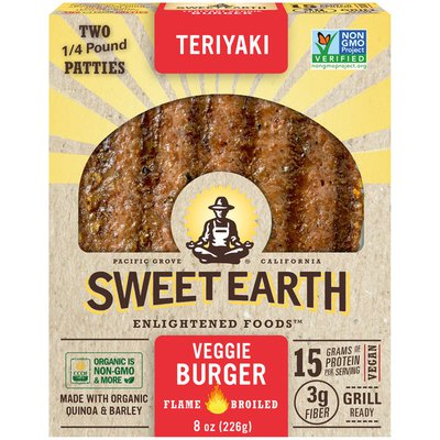 Sweet Earth Teriyaki Flame Broiled Veggie Burger