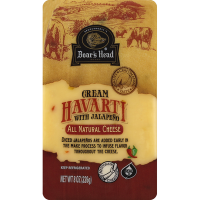 Boar's Head Cheese, Cream Havarti with Jalapeno