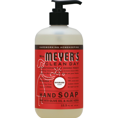 Mrs. Meyer's Clean Day Hand Soap, Clean Day, Rhubarb Scent