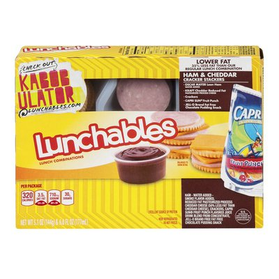 Lunchables Lower Fat Ham & American Cracker Stackers Lunch Combination