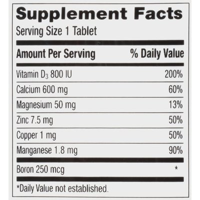 Caltrate Bone Health 600+D3 Calcium Minerals Tablet, Bone Health 600+D3 Calcium Minerals Tablet