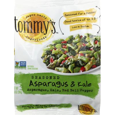 Tommys Asparagus & Kale, Seasoned