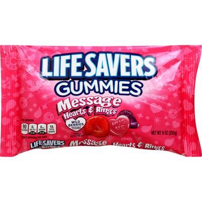 Life Savers Gummies, Hearts & Rings, Message, Wild Berries