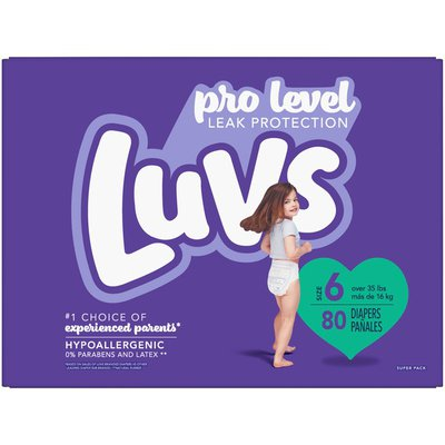Luvs Pro Level Leak Protection Diapers Size 6