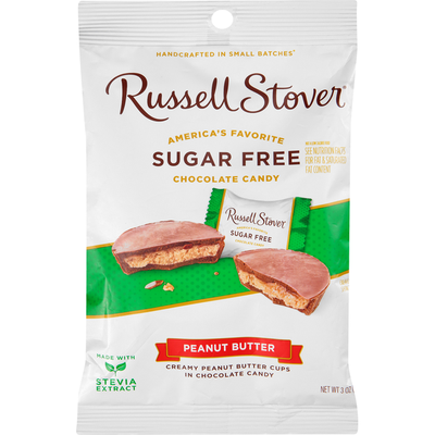 Russell Stover Chocolate Candy, Sugar Free, Peanut Butter