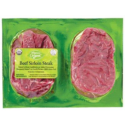 Wegmans Grass Fed Beef Perfect Portion Sirloin Steak