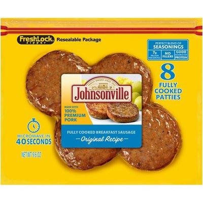 Johnsonville Breakfast Sausage, Fully Cooked, Original Recipe, Patties