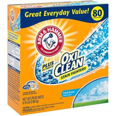 Arm & Hammer Plus Oxiclean Powder Laundry Detergent, Fresh Scent, 80 Loads