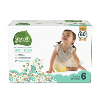 Seventh Generation Baby Diapers Size 6, 35+ Lbs
