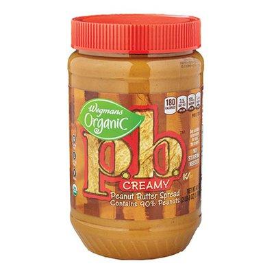 Wegmans Organic Creamy p.b. Peanut Butter Spread